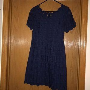 Jcrew Navy Eyelet Dress